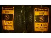 Pair of continental tyres 205 65 16 van tyres