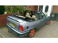 Vauxhall mk 2 astra convertible c20xe red top