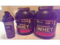 OPTIMUM NUTRITION GOLD STANDARD WHEY PROTEIN 2273g TUB - 77 SERVING TUB PLUS AND EXTRA 10 FREE