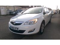 2012 Vauxhall Astra 1.4 EXCLUSIV Petrol 16v 5dr [98] White FULL SERVICE HISTORY Exclusive