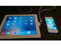 Iphone 5 (with broken screen, but fully working) And Ipad 3rd Generation. Ex con