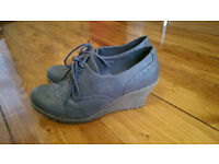 lace-up wedges ankle boots size 39
