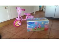 "Brand new Peppa Pig 10"" Kids' Bike for Girls with Stabilisers Pink ""My First Training Bike"""