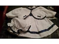 0-3 months frilly dress set