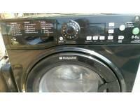 Hotpoint Aqualtis black washing machine 8.6 kg washer dryer