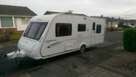 Compass Corona club 505, 5 birth single axle caravan with motor mover