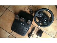 Logitech G920 Driving Force Racing Steering Wheel & Pedals For Xbox One & PC