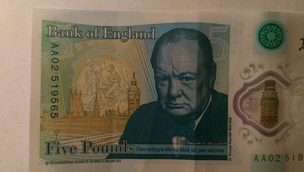 Five pounds AA02 SERIAL NUMBER