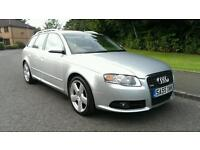 2005 55 AUDI A4 AVANT S LINE 2.0 TDI DIESEL ESTATE * FULL YEAR MOT *