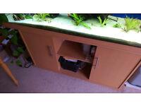 Juwel Rio 400 Aquarium & Cabinet in Beech. Very good condition.