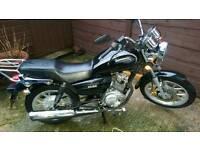 125cc Sinnis js motorbike. Gears
