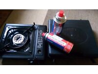 BRAND NEW PORTABLE GAS STOVE WITH TWO CANISTERS