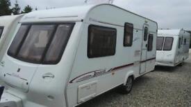 Elddis Avante 505 2004 white 5 BERTH Side bathroom With full awning touring caravan