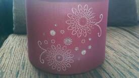 Deep red small light shade with diamonte detail