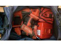 Hilti hammer drill 24v and impact drill 14.4v