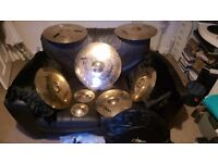 Zildjian A Custom cymbal set plus two stands and a bag included for sale! Urgent!!!
