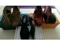 Size 4 New shoes & sandal bundle