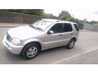 Mercedes Benz ML270, 2.7, Diesel, Automatic, Silver, 1 Yrs MOT, 7 Seats