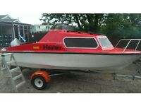 boat with trailer and outboard