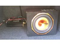 Subwoofer 950w and amp westcoast in good working order