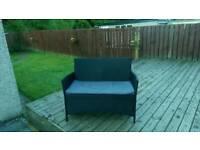 Rattan sofa/bench