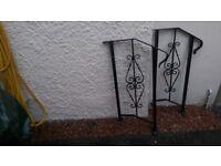 Handrails, pair, decorative.