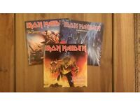 "Iron Maiden 'Rainmaker' 'The Number Of The Beast' & 'The Trooper' Limited Edition Coloured 7"" Vinyl"