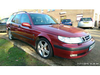 SAAB 9-5 estate 2.3t petrol + LPG automatic 11months MOT. Currently SORN Ł400