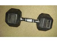 Hex dumbell 9kg vgc £7