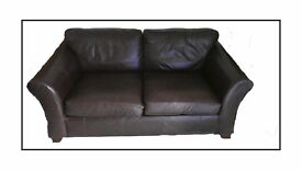 Used M & S Leather Sofa in excellent condition