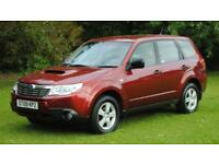 SUBARU FORESTER 2.0 D X 5d 147 BHP 6 Months Bluechip Warranty (red) 2009