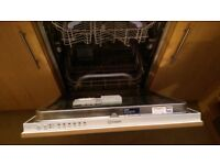 Indesit Dif16 integrated dishwasher faulty