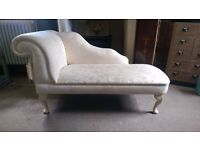 Beautiful Vintage Style Cream Chaise Lounge