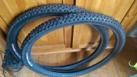 Pair of 26inch Mountain Bike Tyres, very good condition