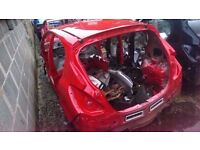 2013 VAUXHALL CORSA D BARE SHELL IN RED SPARES OR REPAIR