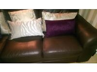 BEAUTIFUL, GENUINE ITALIAN LEATHER 2 & 3 SEATERS. FABULOUS CONDITION, PAID £2,000.00.