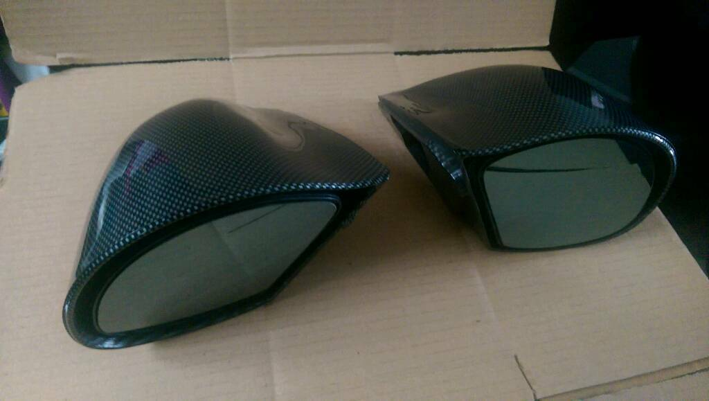 Subaru carbon mirrors / blitz air filter