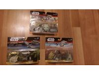 Star Wars Micro Machines mini figures toy set x3 / Special Gold edition