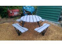 8 seater grey garden table