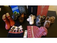 Boys shoe and hat bundle - shoe sizes 5-7