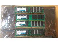 Hypertec 4 x 1GB PC3200 DDR RAM (184 Pin)