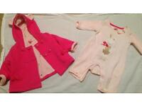 Ted baker baby coat and baby grow