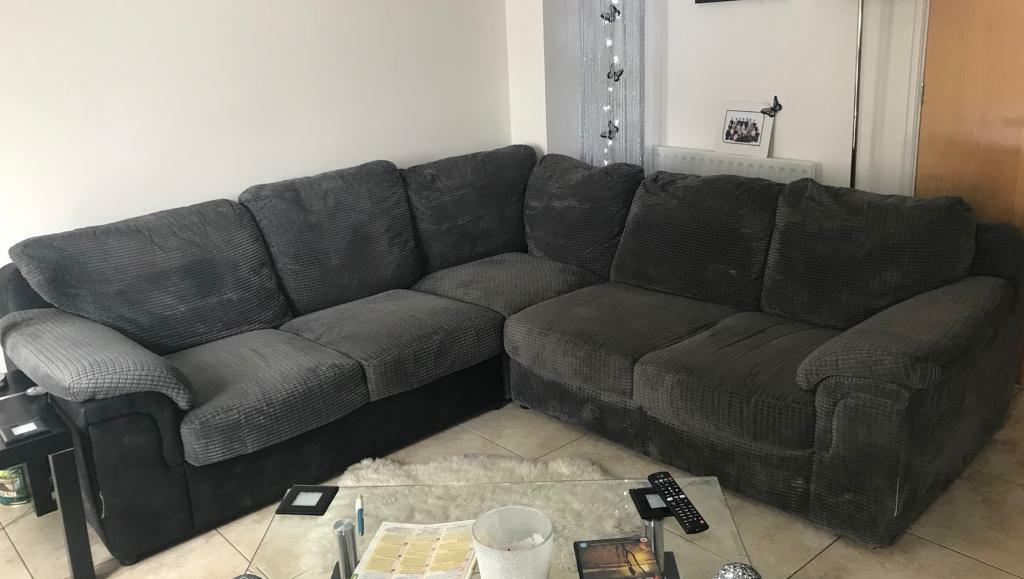 Grey Cord Corner Sofa In Kingswood Bristol Gumtree