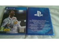 Brand new sealed Fifa 18 Ps4 and bonus pack