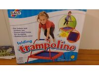 Indoor outdoor folding trampoline brand new boxed