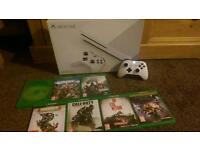XBOX ONE S WITH 7 GAMES