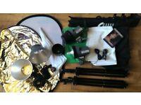 Photography Studio Strobe Flash Set Interfit EX150 Twin Set & extras