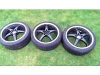Bmw alloys wheels R18 deep dish only 3