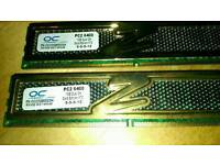 DDR pc2 6400 2x 1 gb stick s