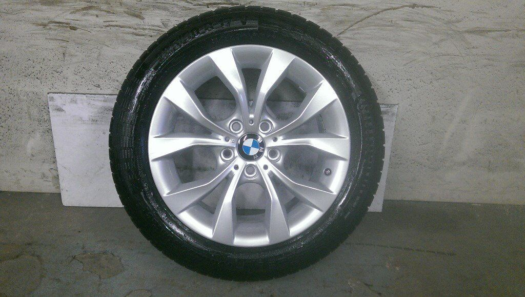 ALLOYS X 4 OF 17 INCH GENUINE BMW X1 4X4 FULLY POWDERCOATED INA STUNNING DUTCH/SILVER NICE WHEELS